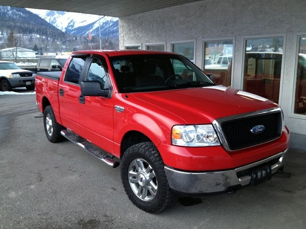 We ended up buying this Ford Truck in Fernie