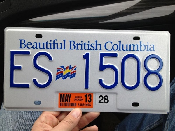 Our Canadian number plates