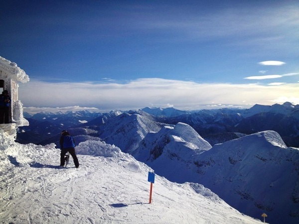 Stunning view from the top of Polar Peak lift in Fernie Alpine Resort
