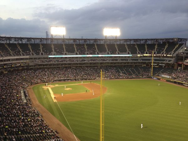 The view from one of the 40 000 unobstructed seats at US Cellular Field.