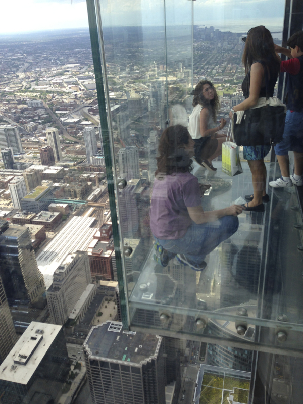 It was nerve-racking standing in the Glass Boxes on the Skydeck at the Willis Tower