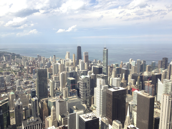 Fantastic Views of Chicago from the Skydeck at Willis Tower