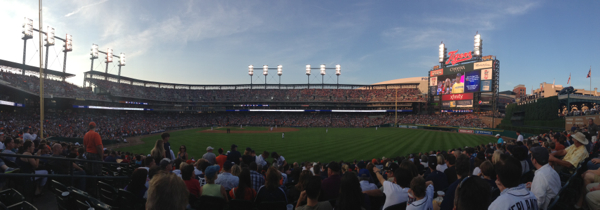 Panorame from our right field seats at Comerica park