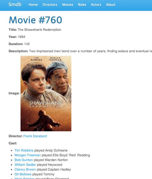SMDB Movie Show page