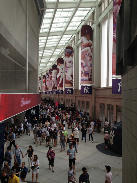 The modern concourse at the new $1,5 billion Yankee Stadium