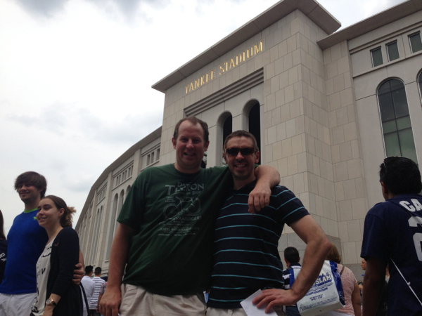 Myself and Jano outside Yankee Stadium in New York!