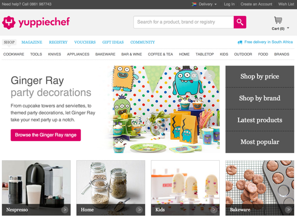 yippiechef.com home page