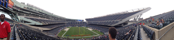 Panorama of empty Soldier Field