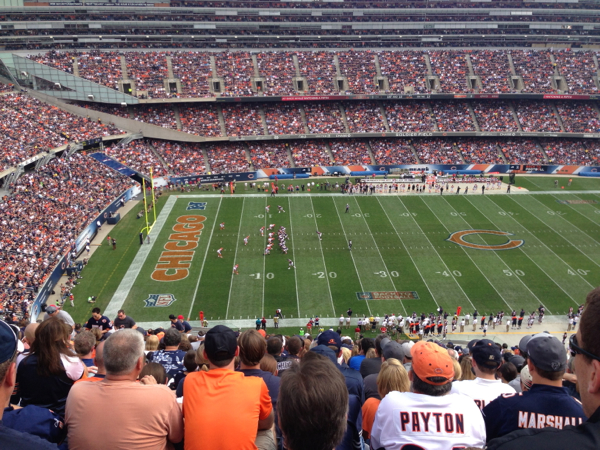 line of scrumache from my seat at Soldier Field