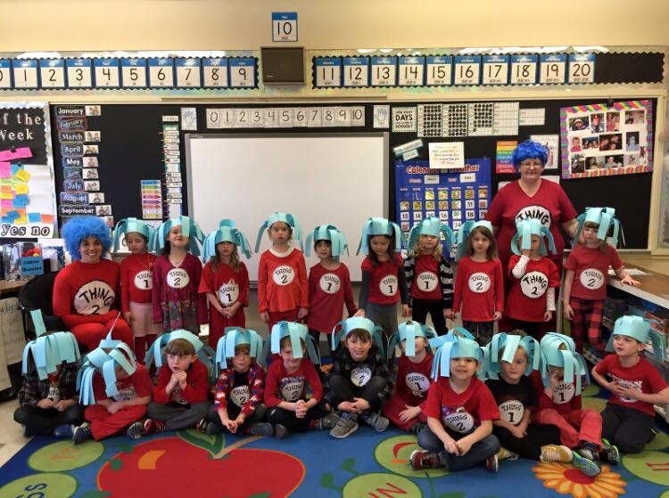 Kindergarten class with Ms Spergel and Mrs D